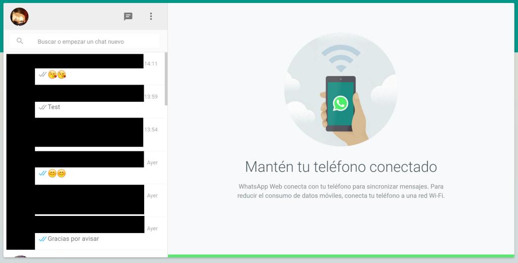 WhatsApp Web - conversaciones