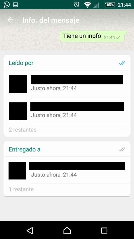 Android - WhatsApp - Grupos - Leidos