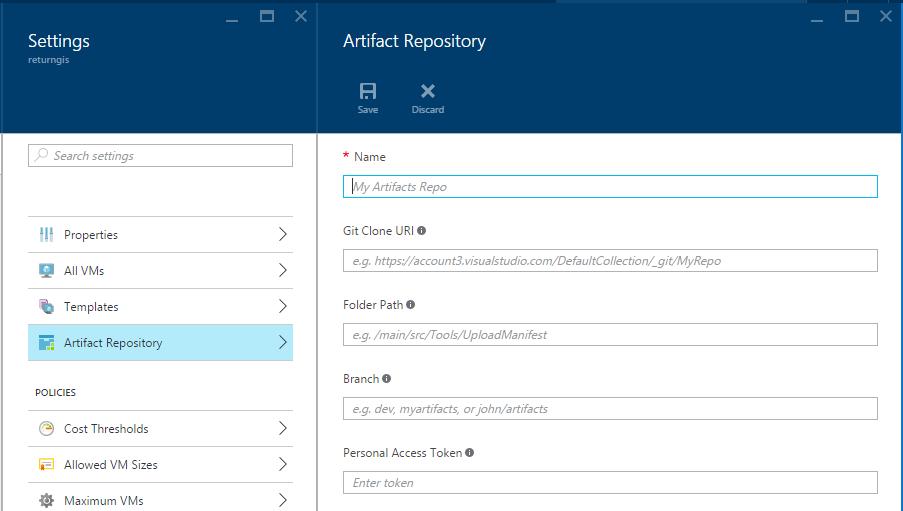 Azure DevTest Labs - Artifact Repository