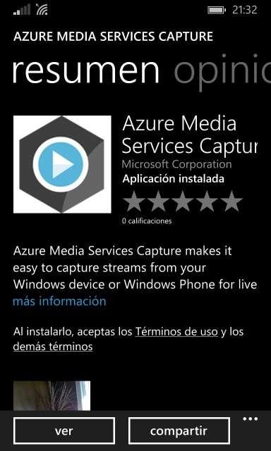 Azure Media Services Capture
