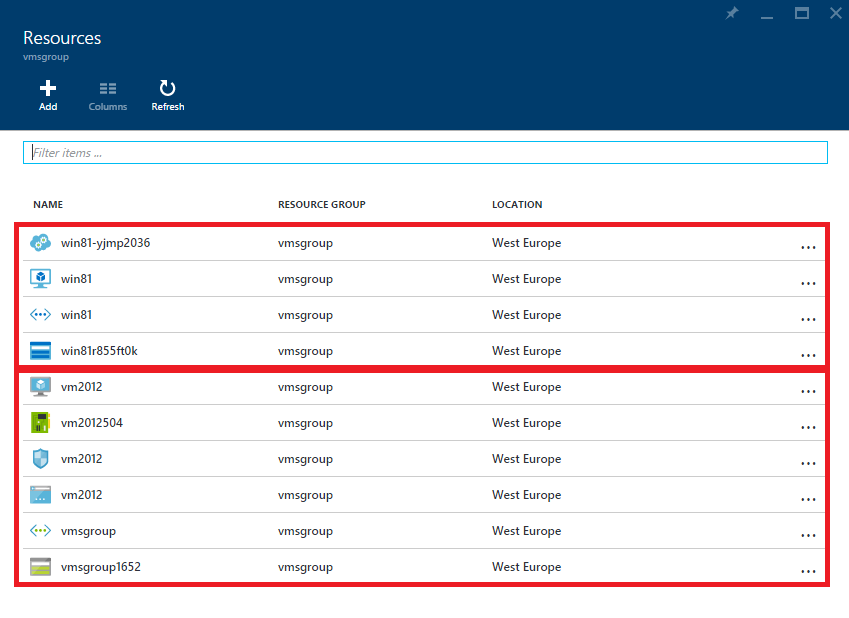 ASM and ARM VMs in the same Resource Group