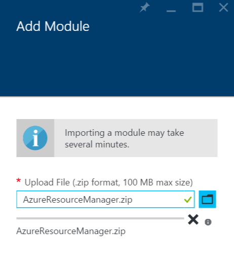 Azure Automation - Add Module