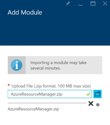 Azure Automation - Add Module