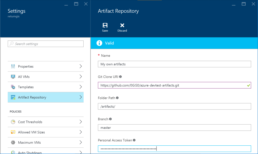Azure DevTest Labs - Artifact Repository