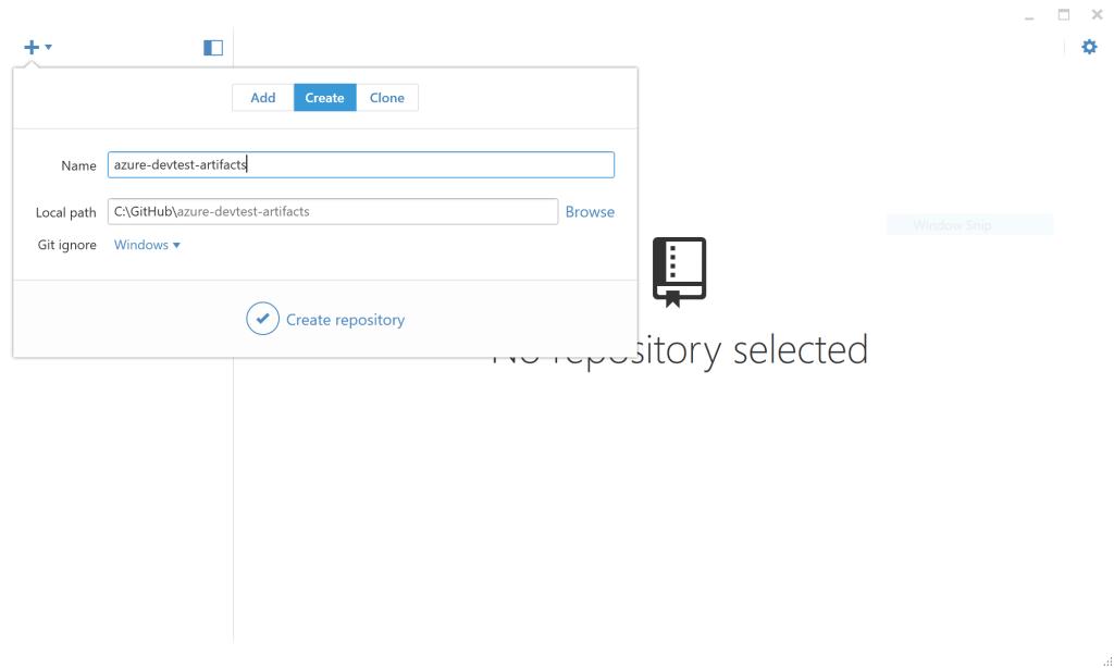 Create GitHub repository - Azure DevTest Labs