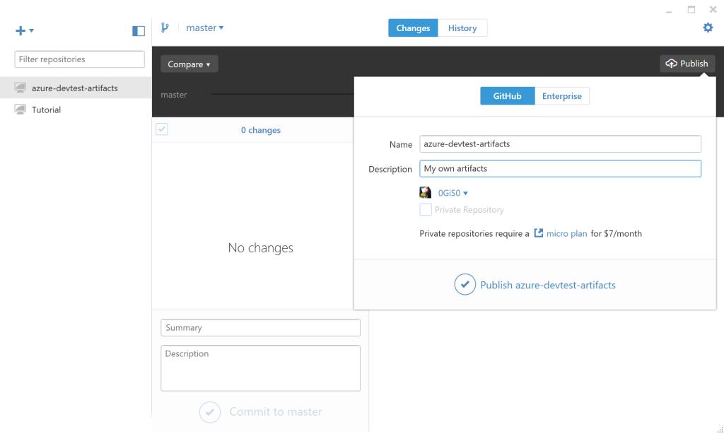 GitHub Desktop - Publish