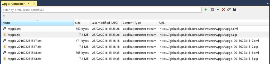 Azure App Service - backup files