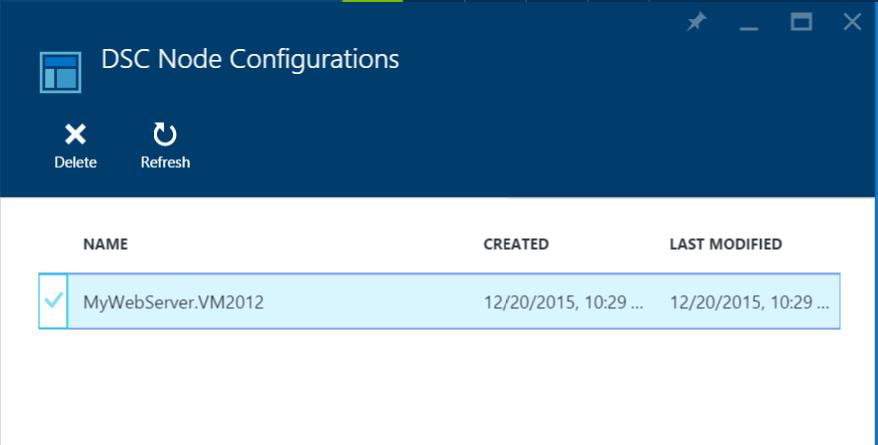 Azure Automation - DSC Node Configuration