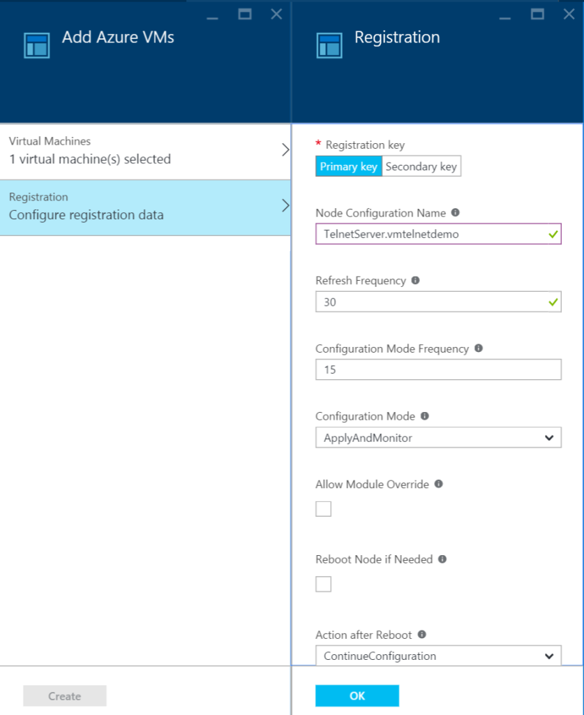 Azure Automation - DSC Nodes - Registration