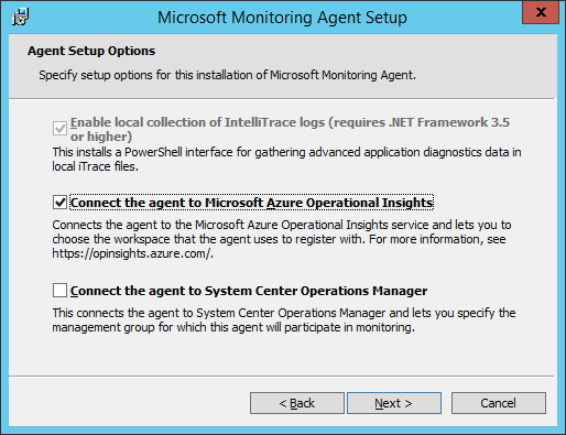 Microsoft Monitoring Agent - Connect the agent to Microsoft Azure Operational Insights