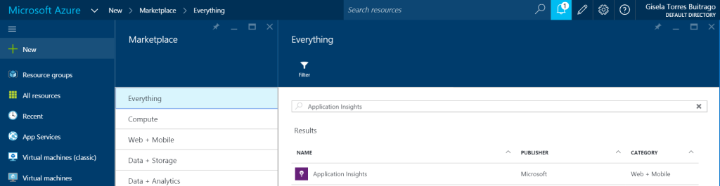 New - Application Insights