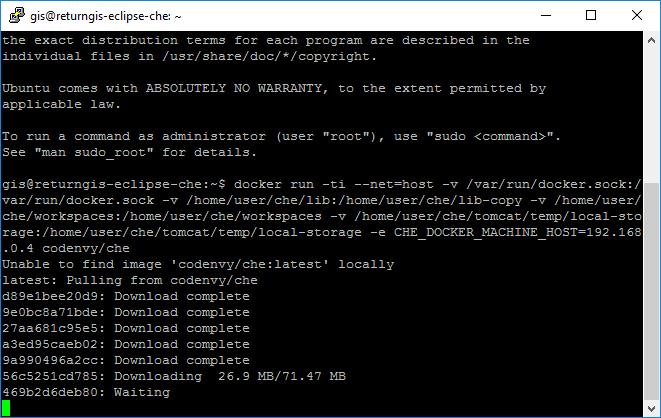 Eclipse Che - Downloading codenvy che