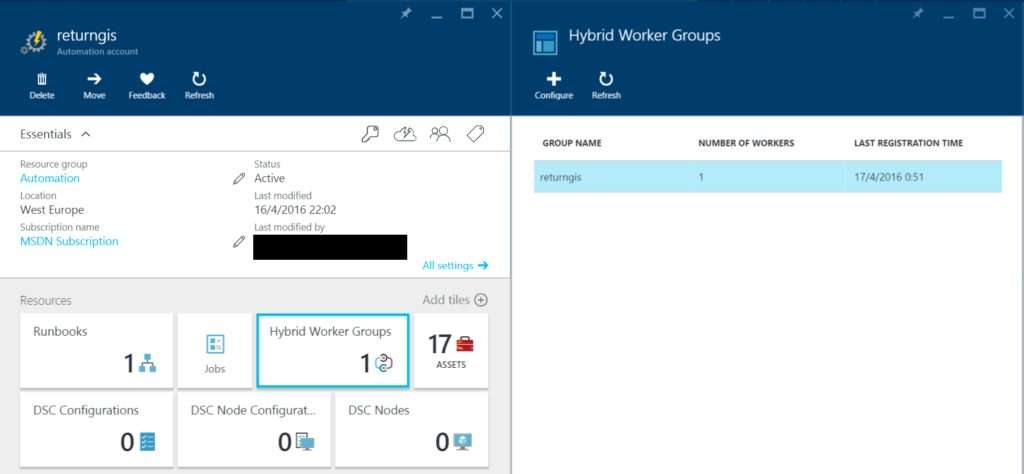 Azure Automation - Hybrid Worker Groups