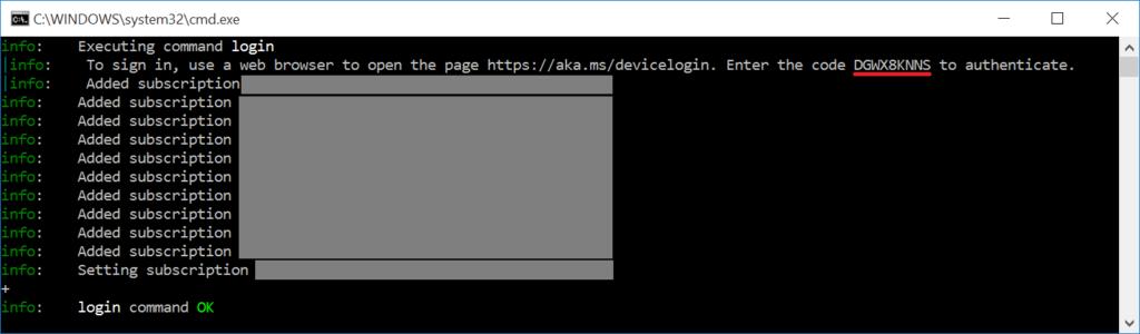 Azure CLI - azure login