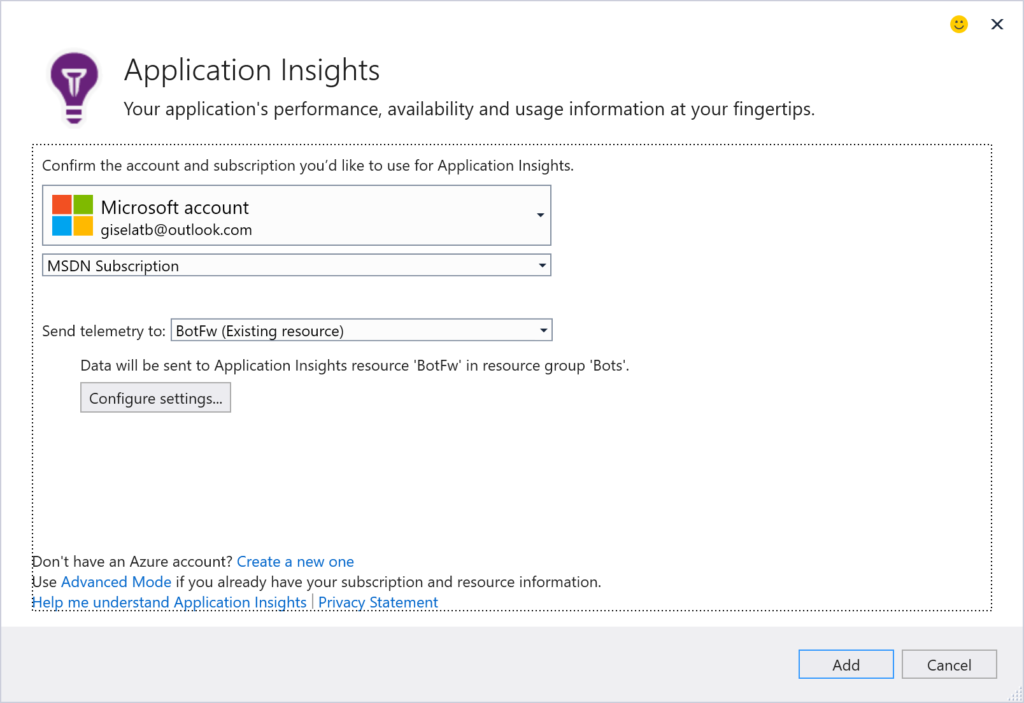 Application Insights - Configuration