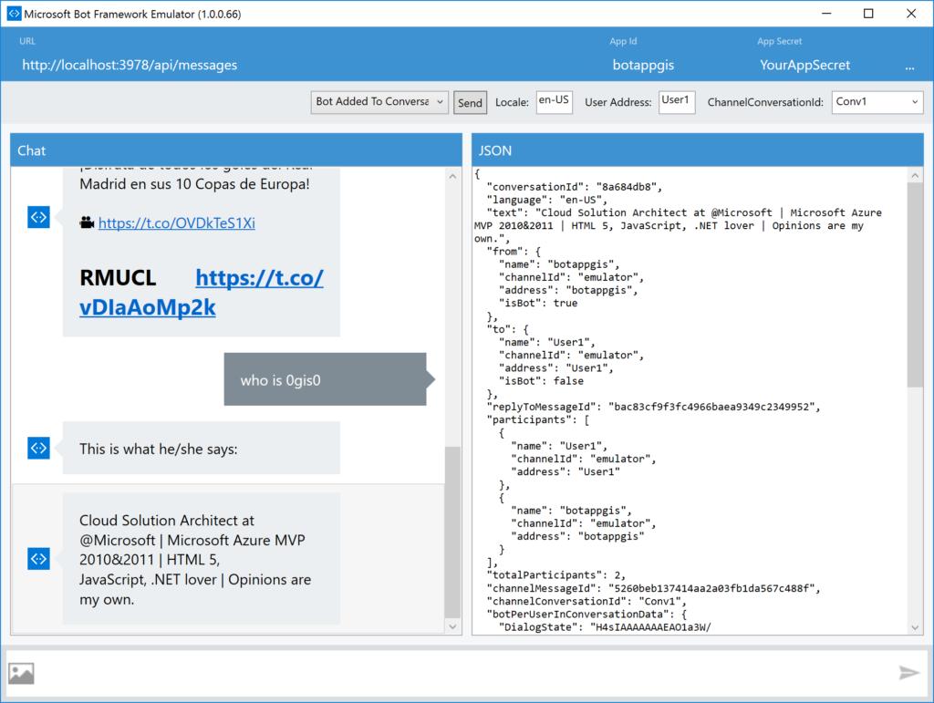 Bot Fw Emulator - Demo with LUIS