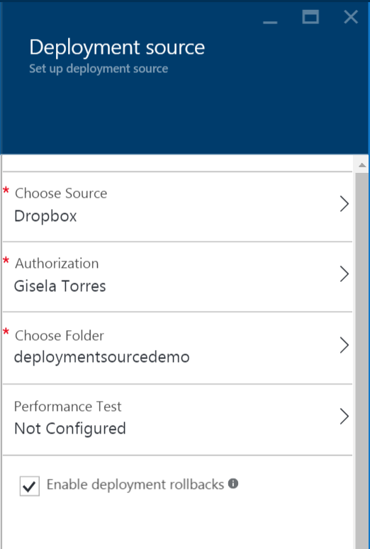Deployment Source - Dropbox