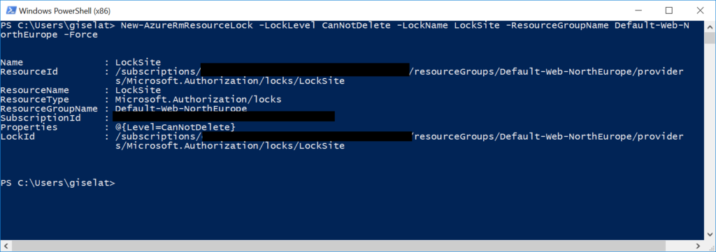 Locks - PowerShell
