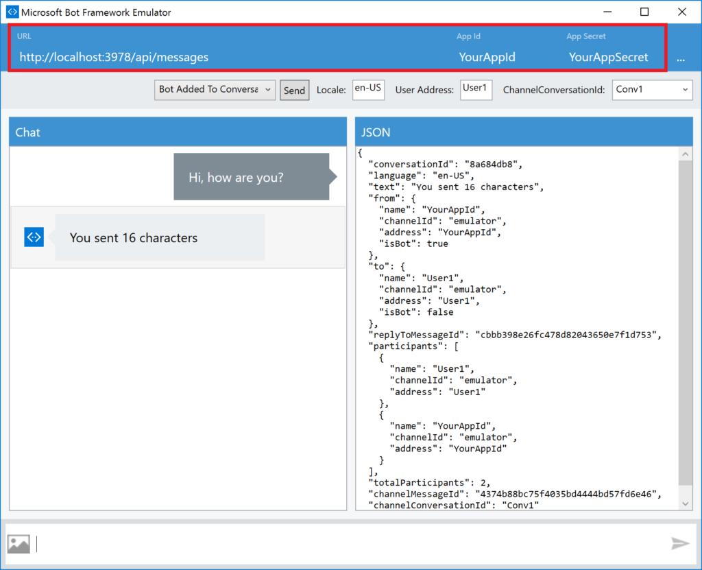 Microsoft Bot Framework Emulator