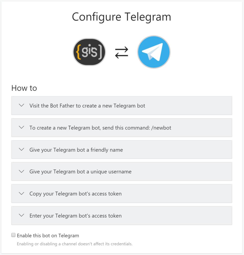 Microsoft Bot Framework - Configure Telegram