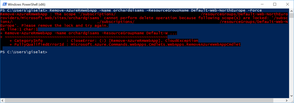 PowerShell lock error