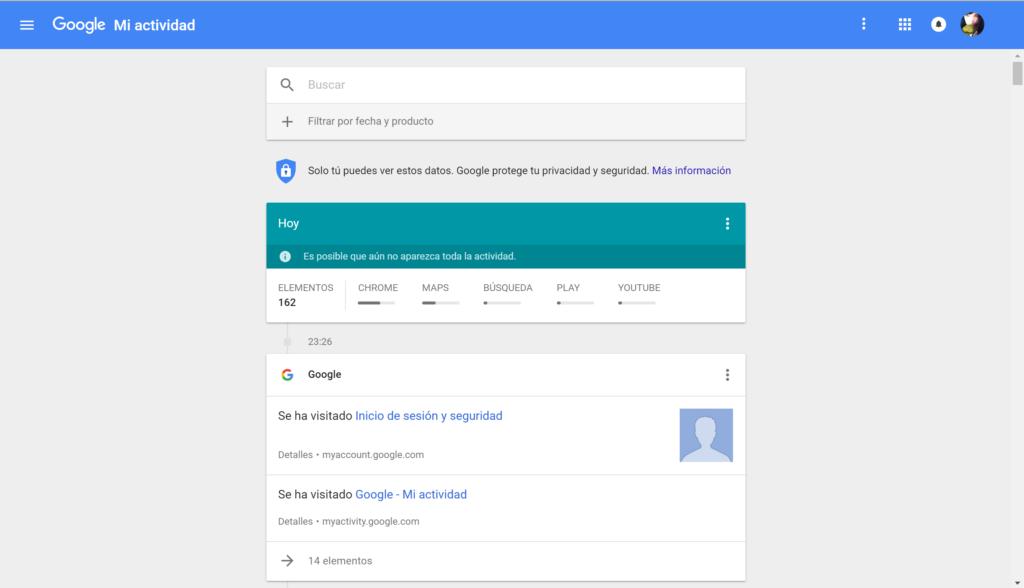 Google - Mi actividad