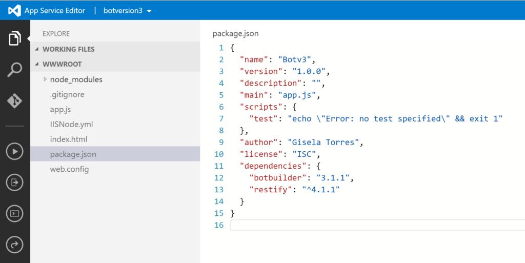 Web Apps - App Service Editor