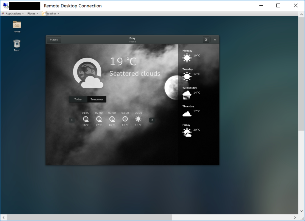 Remote Desktop - MS Azure - Linux