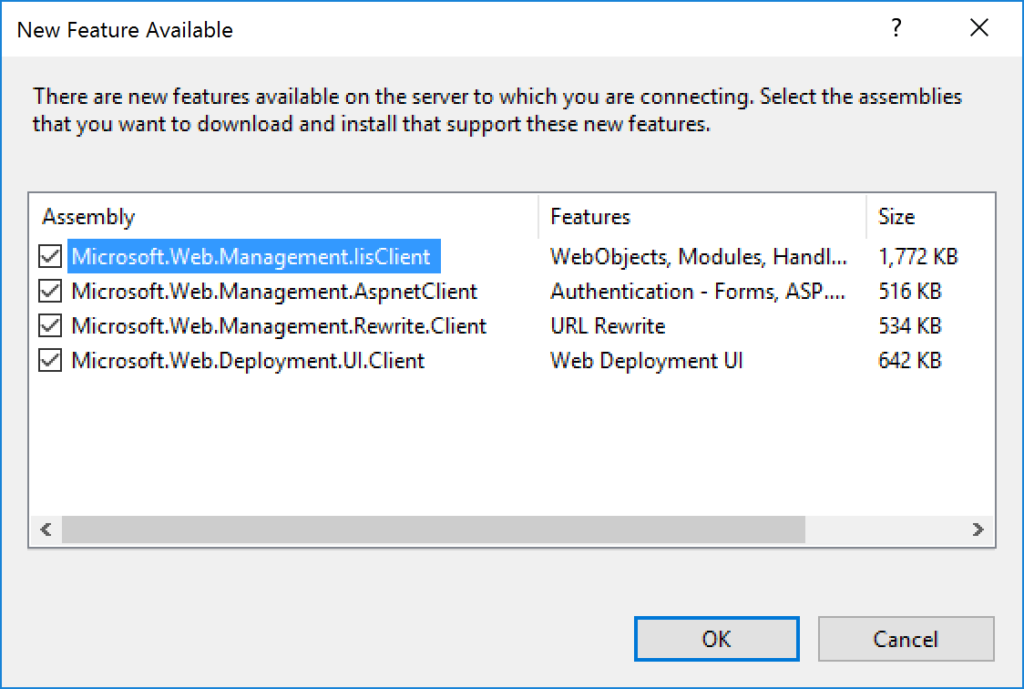 IIS Manager - New Feature Available