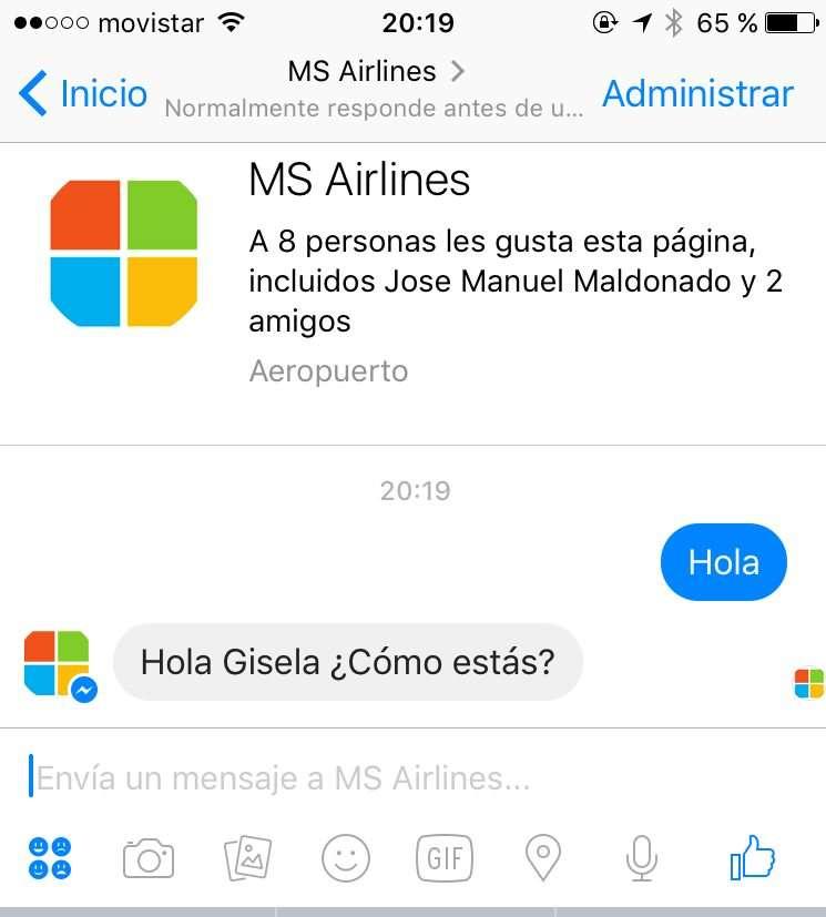 MS Airlines - Lenguaje natural gracias a LUIS