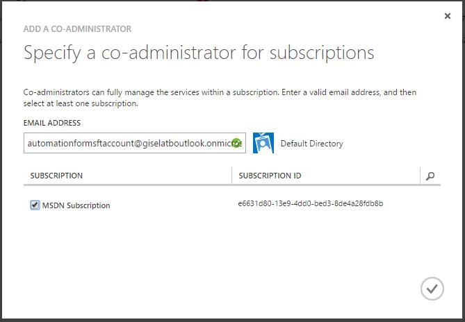 Usuario como co-admin en la suscripción a la que quieres acceder