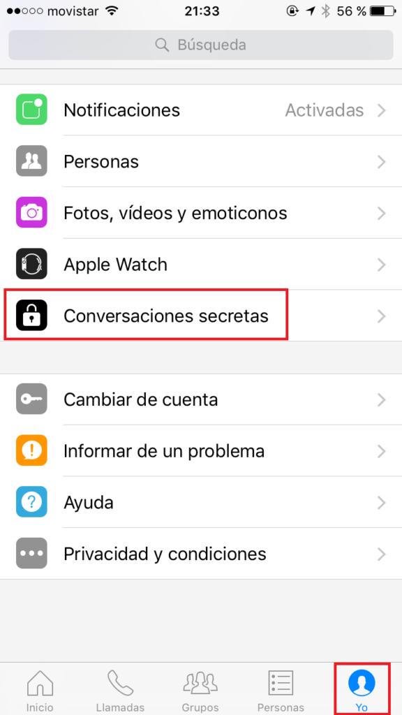 Facebook Messenger - Conversaciones Secretas