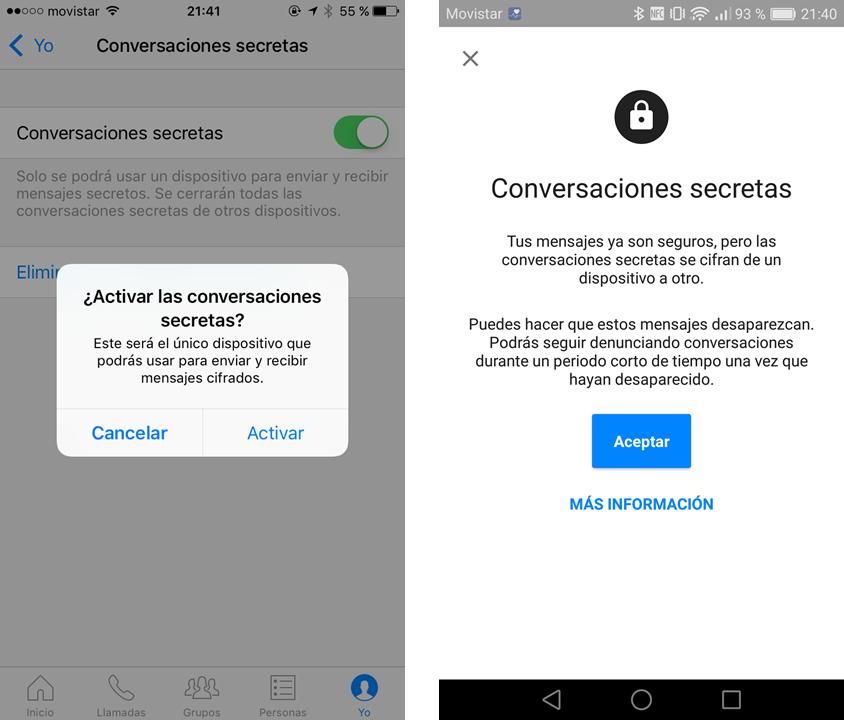 Facebook Messenger - Habilitar conversaciones secretas