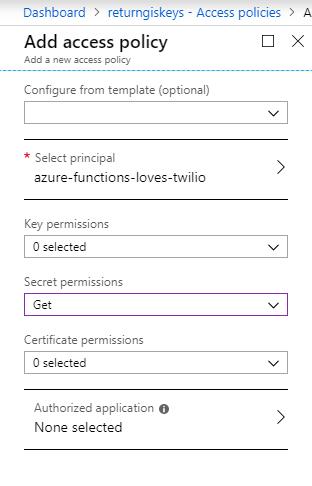 Azure Key Vault - Añadir una nueva política de acceso