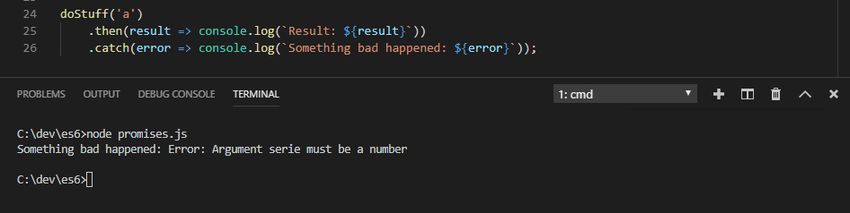ES6 Promises catch