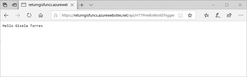 Probando el proxy de Azure Functions