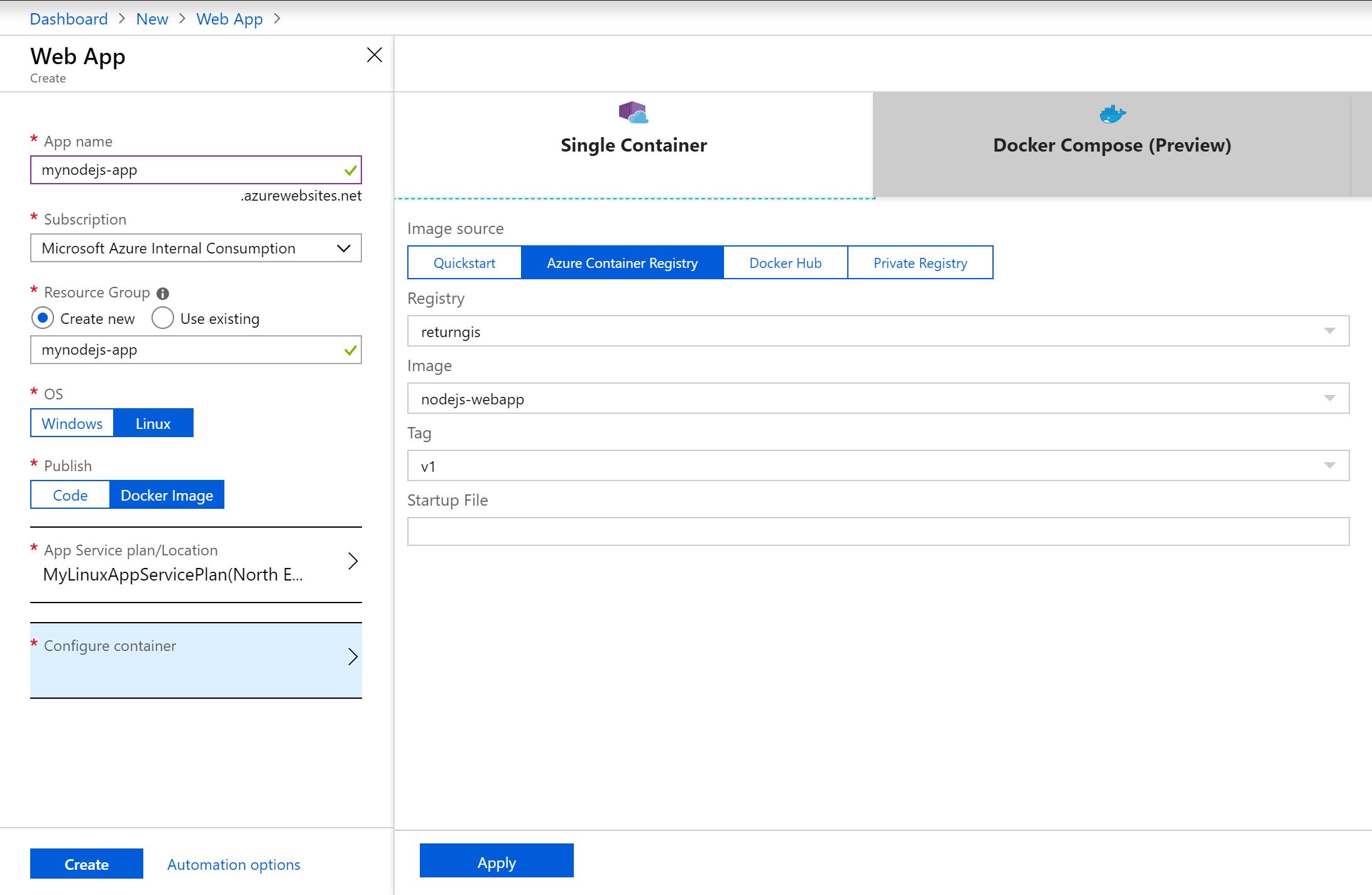 Ejecutar contenedores de Docker en Azure App Service | return(GiS)