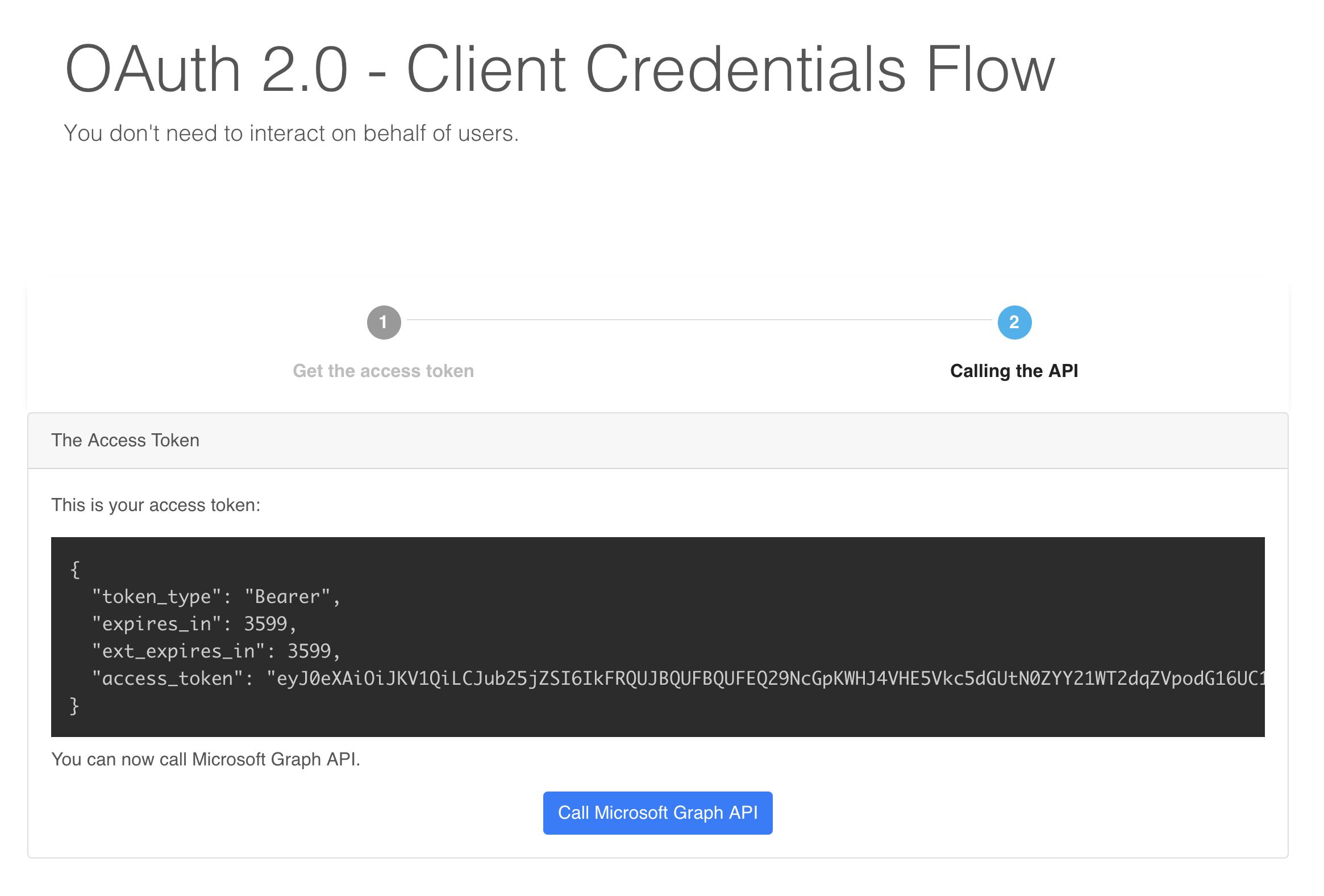 Ejemplo de Client Credentials Flow de OAuth 2 0 | return(GiS)