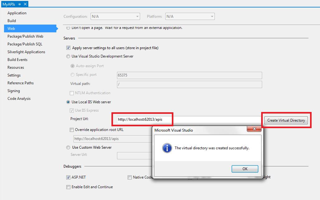 Create Virtual Directory