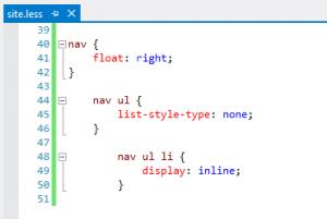 CSS indentation